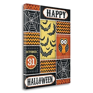 The Holiday Aisle Happy Halloween' Graphic Art Print on Wrapped Canvas; 23'' H x 18'' W