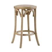 Bungalow Rose Charmayne Rattan Seat Backless 24'' Stool
