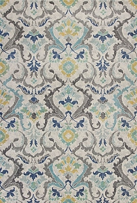 Bungalow Rose Curtice Gray Harmony Area Rug; 3'3'' x 4'11''