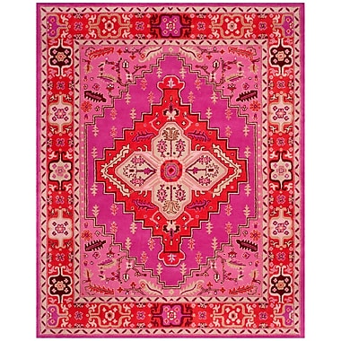 Bungalow Rose Blokzijl Hand-Tufted Wool Red Area Rug; 9' x 12'