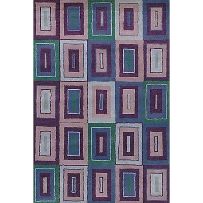 Ebern Designs Krysta Blue/Purple Rug; 2' x 3'