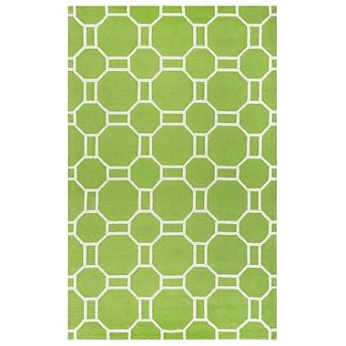 Ebern Designs Evangeline Hand-Tufted Lime Indoor/Outdoor Area Rug; 7'6'' x 9'6''