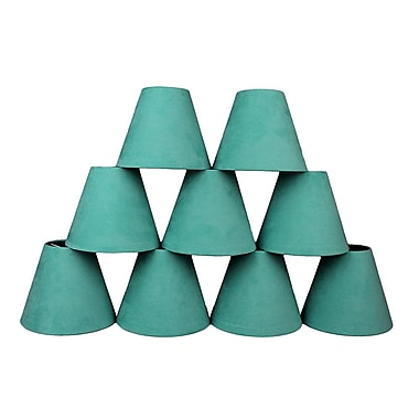 Ebern Designs 9 Piece 6'' Suede Empire Lamp Shade (Set of 9); Turquoise