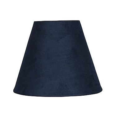 Ebern Designs 6'' Suede Empire Lamp Shade; Navy Blue