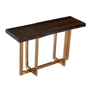 Everly Quinn Bertram Modern Acacia Wood Top Console Table