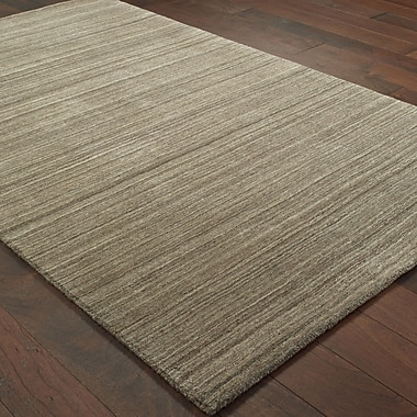 Gracie Oaks Alanna Hand-Tufted Wool Brown Area Rug; 10' X 13'