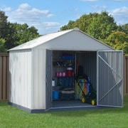 Arrow EZEE Shed Extra High Gable 10' x 8' Storage Shed; Cream
