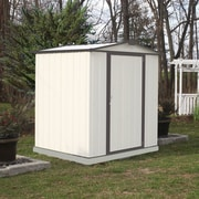 Arrow EZEE Low Gable 6' x 5' Tool Shed; Cream/Charcoal