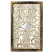 One Allium Way Olive Distressed Framed Wall Mirror