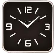 Latitude Run Square Glass Wall Clock; Black