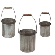 CBK Garden Classic Ribbed 3 Piece Pot Planter Set