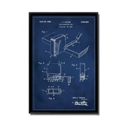 17 Stories 'Measuring Tape Patent' Framed Graphic Art Print on Canvas; 24'' H x 16'' W