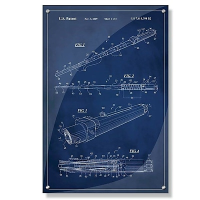 17 Stories 'Star Wars Lightsaber Patent' Acrylic Painting Print; 18'' H x 12'' W