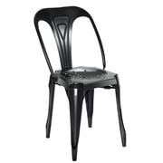 17 Stories Dhruv Tolix Dining Chair (Set of 2); Black
