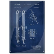 17 Stories 'Mechanical Pencil Patent' Acrylic Painting Print; 36'' H x 24'' W