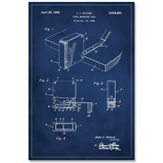 17 Stories 'Measuring Tape Patent' Graphic Art Print on Canvas; 48'' H x 32'' W