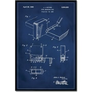 17 Stories 'Measuring Tape Patent' Framed Graphic Art Print on Canvas; 48'' H x 32'' W
