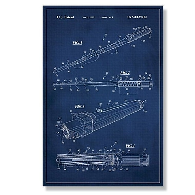 17 Stories 'Star Wars Lightsaber Patent' Graphic Art Print on Canvas; 24'' H x 16'' W