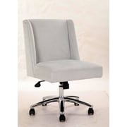 Varick Gallery Wightman Decorative Mid-Back Desk Chair; Light Gray