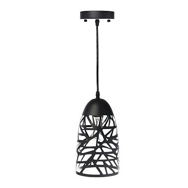 Varick Gallery Montross 1-Light Mini Pendant; Black