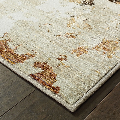 Williston Forge Knox Patina Beige/Charcoal Area Rug; 1'10'' x 3'2''