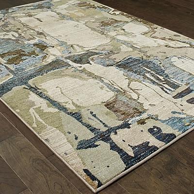 Williston Forge Knox Blue/Gray Area Rug; 6'7'' x 9'6''