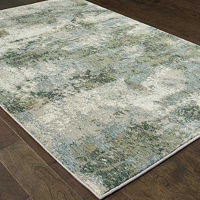Williston Forge Knox Haze Blue/Green Area Rug; 6'7'' x 9'6''