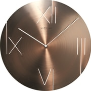 17 Stories 16.93'' Round Wall Clock; Brown/Copper