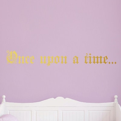 SweetumsWallDecals Once Upon A Time Wall Decal; Gold
