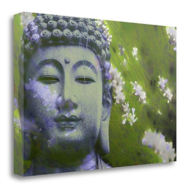 Bloomsbury Market 'Lavender Buddha II' by Kari Brooks Framed Graphic Art Print on Wrapped Canvas