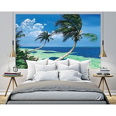 Bayou Breeze 'Beckoning Palms' by Scott Westmoreland Framed Print on Wrapped Canvas