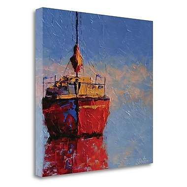 Breakwater Bay 'Just Waiting' by Leslie Saeta Framed Print on Wrapped Canvas; 28'' H x 28'' W