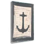 Breakwater Bay 'Anchor' by Cassandra Cushman Framed Acrylic Painting Print on Wrapped Canvas