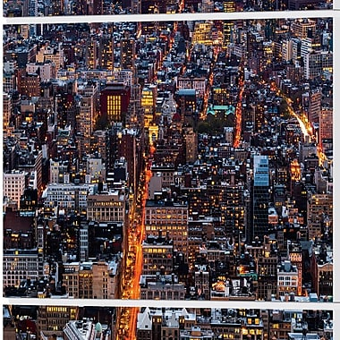 East Urban Home 'Electric City' Photographic Print Multi-Piece Image on Wrapped Canvas