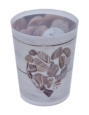 Evideco Design Nature Printed Bath Trash Can/Waste Bin