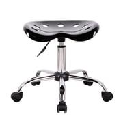 Ebern Designs Wilkinson Height Adjustable Lab Stool; Black