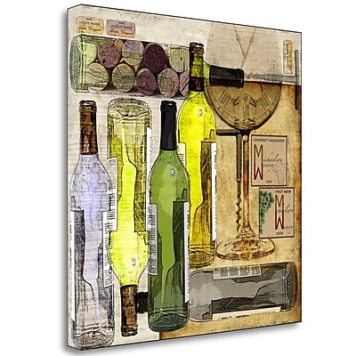 Fleur De Lis Living 'Time for Wine' Print on Wrapped Canvas; 23'' H x 23'' W