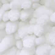 Everly Quinn Renita Butter Chenille 2 Piece Bath Rug Set; White