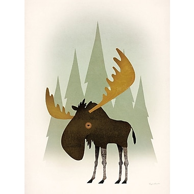 Loon Peak 'Forest Moose' Print on Wrapped Canvas