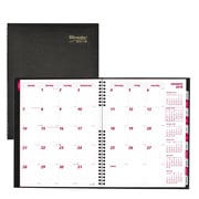 "Brownline® 2018 CoilPro® Monthly Planner, 11"" x 8-1/2"", Black, English"