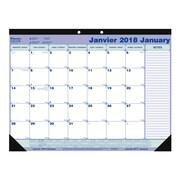 Blueline® - Calendrier sous-mains mensuel 2018, 21 1/4 po x 16 po, bilingue
