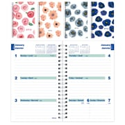 "Blueline® 2018 Weekly Planner, 8"" x 5"", Assorted Watercolour Designs, Bilingual"