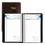 "Blueline® 2018 Daily Planner, 8"" x 5"", Soft Cover, Spiral Binding, Black, Bilingual"