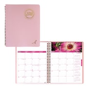 "Blueline® 2018 Monthly Planner, 8-7/8"" x 7-1/8"", Pink Ribbon, Pink, Bilingual"