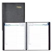 """Blueline® 2018 Daily Planner, 11"""" x 8-1/2"""", Soft Cover, Twin-Wire Binding, Black, Bilingual"""