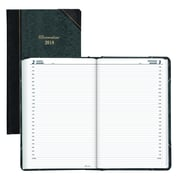 "Brownline 2018 Daily Planner, 13-3/8"" x 8"", Marble Green Cover, English"