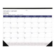 Blueline® – Calendrier sous-mains mensuel DuraGlobe™ 2018, 22 po x 17 po, bilingue