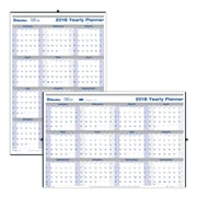 Blueline® 2018 Net Zero Carbon™ Yearly Horizontal/Vertical Wall Planner, Laminated, English