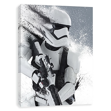 Artissimo Star Wars White Stormtrooper, Gallery Wrapped Canvas, 16W x 20H x 1.25D Wall Art