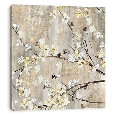 Artissimo Pearls In Bloom, Gallery Wrapped Canvas, 35W x 35H x 1.5D Wall Art